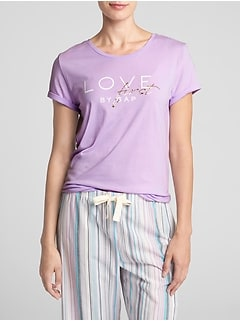 Graphic Sleep T-Shirt in Cotton-Modal