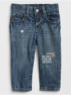 Baby Patch Straight Jeans