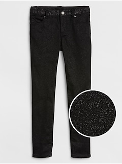 Kids Superdenim Glitter Super Skinny Jeans with Fantastiflex