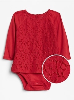 Baby Lace Long Sleeve Body Double