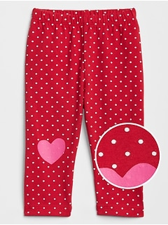 Baby Print Heart Leggings