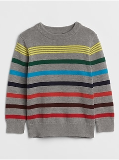 Crazy Stripes Crewneck Sweater