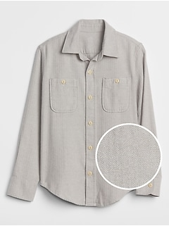 Kids Herringbone Two-Pocket Shirt