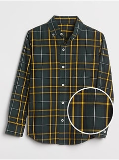 Kids Plaid Shirt in Poplin