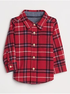 Baby Plaid Shirt in Flannel