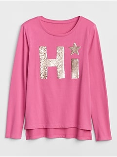 Kids Flippy Sequin Top