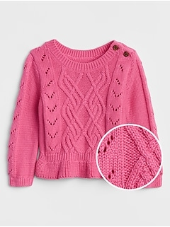 Cable-Knit Peplum Sweater