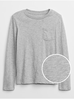Long Sleeve Pocket T-Shirt in Slub Jersey