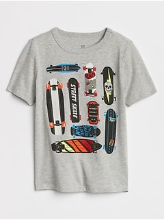 Kids Short Sleeve Graphic T-Shirt in Jersey
