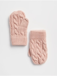 Cable-Knit Mittens