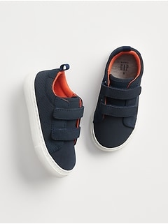 Toddler Strappy Sneakers in Faux Leather