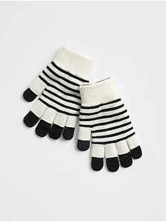 Stripe 2-in-1 Mittens
