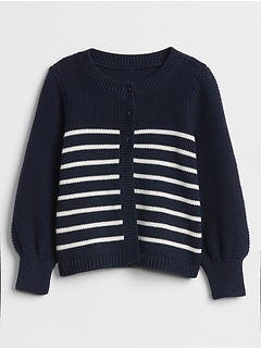 Toddler Stripe Cardigan Sweater