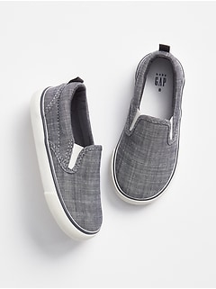 Chambray Slip-On Sneakers