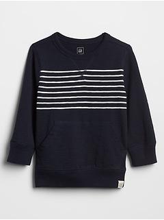 Stripe Pullover Sweatshirt