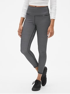 GapFit Stripe Ankle-Length Leggings