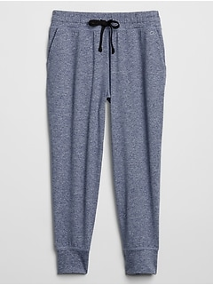GapFit Cropped Joggers in Brushed Jersey