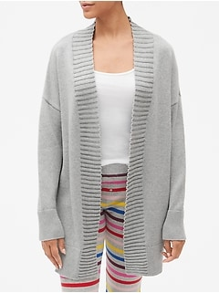 Open-Front Shawl Collar Cardigan Sweater