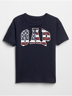 Kids Short Sleeve Gap Logo Americana T-Shirt