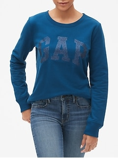 Glitter Arch Logo Pullover Sweatshirt
