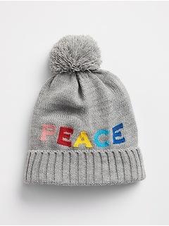 Peace Pom-Pom Beanie