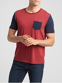 Colorblock Crewneck T-Shirt