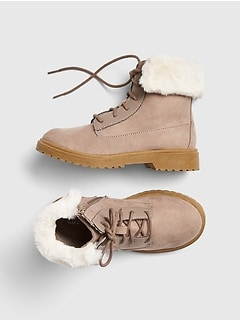 Faux Fur Hiker Boots