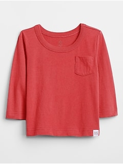 Baby Long Sleeve Pocket T-Shirt