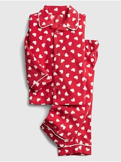 Heart Pajama Set in Fleece