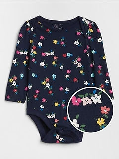 Print Long Sleeve Bodysuit