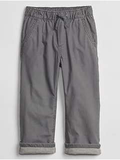Toddler Pull-On Lined Canvas Pants