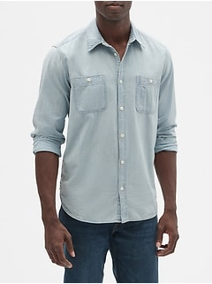 Chambray worker shirt