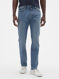 Slim Straight Fit Jeans with Gap Flex