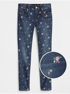 Superdenim Floral Super Skinny Jeans with Fantastiflex