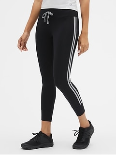 GapFit Drawcord Side Stripe Leggings