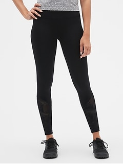 GapFit Spliced Mesh Leggings