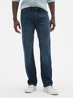Straight Jeans With Gapflex With Washwell™