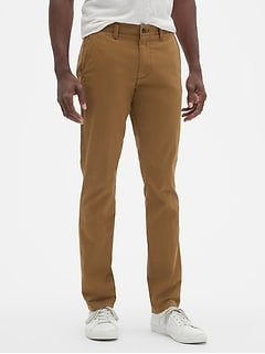 Lived-In Khakis in Skinny Fit with GapFlex