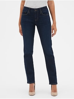 Mid Rise Real Straight Jeans