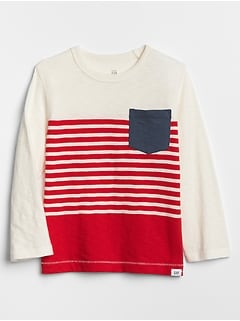 Toddler Stripe Crewneck T-Shirt