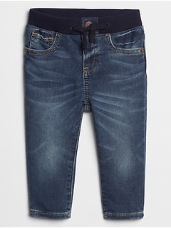 Baby Pull-On Slim Fit Jeans With Washwell™
