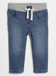 Baby Pull-On Slim Jeans With Washwell™