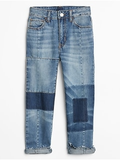 Girlfriend Jeans in Patchwork