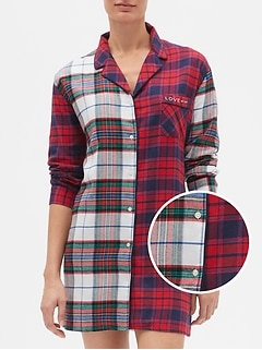 Plaid Flannel Sleep Shirt