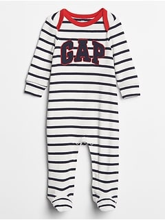 Baby Footed Gap Logo Stripe One-Piece