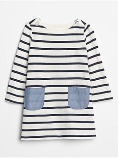 Stripe Two-Pocket Dress
