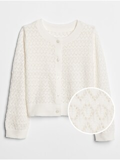 Pointelle Cardigan Sweater