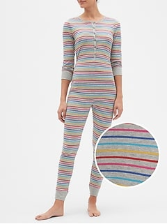Crazy Stripe Union Suit