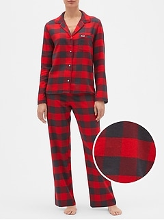 Print Flannel PJ Set