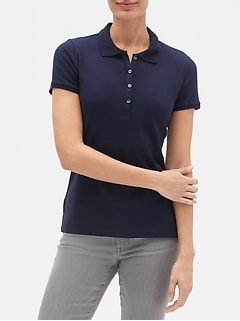 Short Sleeve Pique Polo Shirt